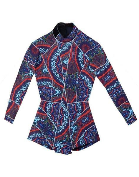 Cynthia Rowley Navy Paisley Print Wetsuit