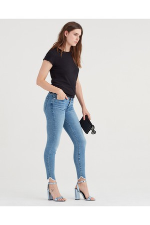 1f39856d0e 7 For All Mankind Luxe Vintage Ankle Skinny With Scallop Hem In Flora