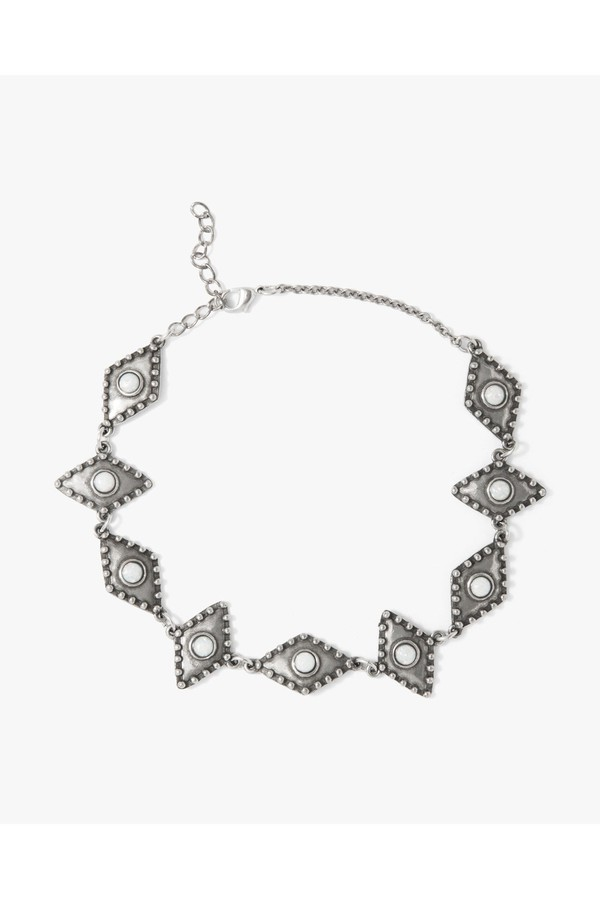 7 For All Mankind The 2 Bandits Wild Eyes Choker In Silver THQpZnTmKw