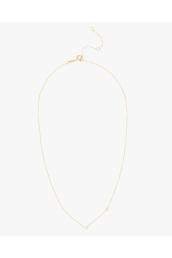 7 For All Mankind Opal Simple Necklace In Gold e1o3qvaZ