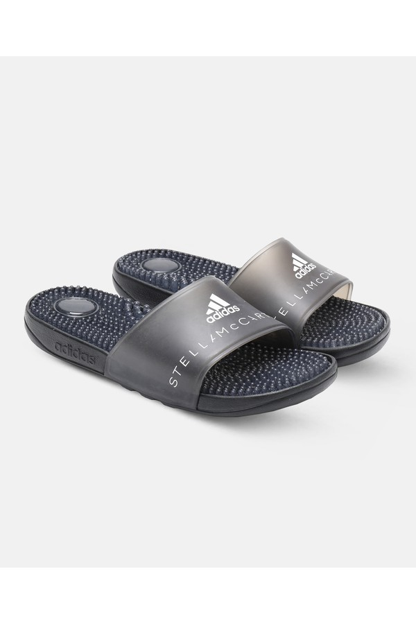 6cdd8924022a Black Adissage Slides by adidas by Stella McCartney at ORCHARD MILE