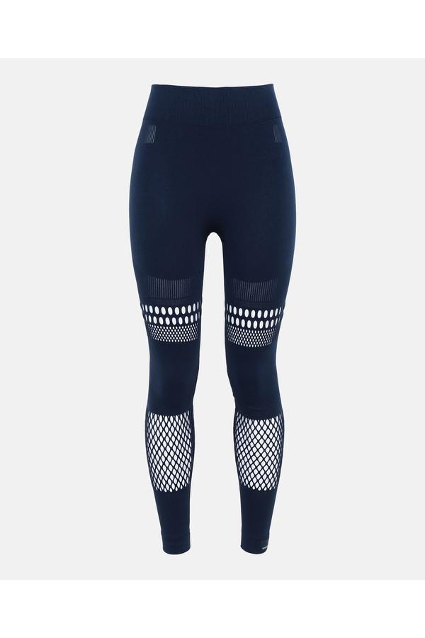 b2e2e77330721 Blue Warp Knit Tights by adidas by Stella McCartney at ORCHARD MILE