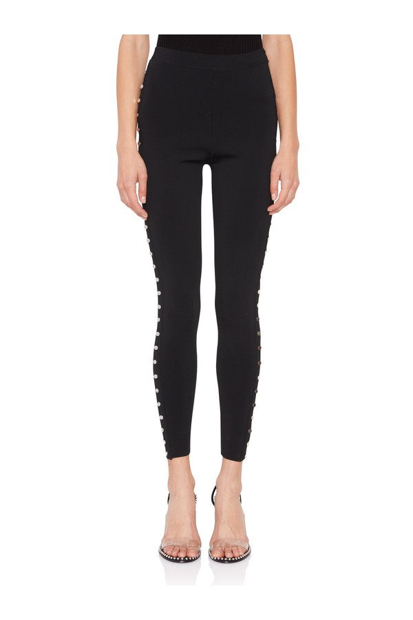 6ab36aca6ae75a Black Studded Leggings by Alexander Wang at ORCHARD MILE