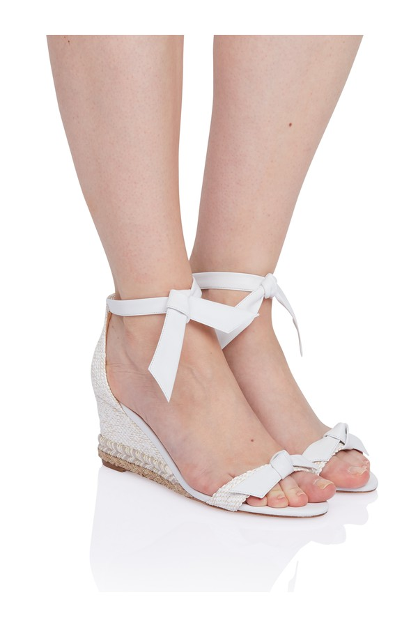 2e28043b0a Clarita Rope Wedge Sandal In White Leather by Alexandre Birman at...