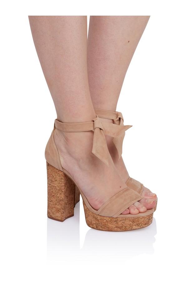 90c6d55a95 Celine Cork Platform Sandal In Nude by Alexandre Birman at ORCHARD...
