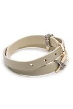 Alexis Bittar Crystal Encrusted Plaid Leather Wrap Bracelet QxTkCIS