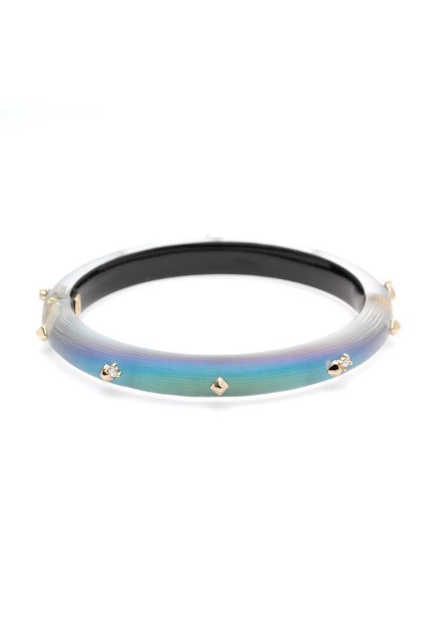 85e6ec05c Golden Studded Hinge Bracelet by Alexis Bittar at ORCHARD MILE