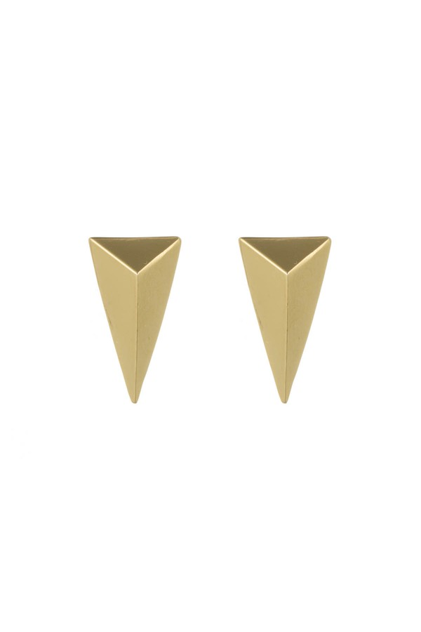 8d54e4f0c Gold Pyramid Post Earring by Alexis Bittar at ORCHARD MILE