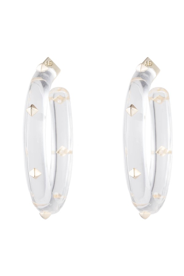 20e1534b7 Gold Studded Hoop Earring by Alexis Bittar at ORCHARD MILE