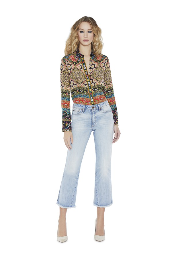 ed7d05e90ba8d Willa Large Collar Silk Ribbon Top by Alice + Olivia at ORCHARD MILE