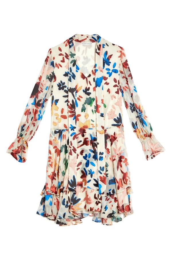 b6c969feb1 Moore V Neck Layered Skirt Tunic Dress by Alice + Olivia at...