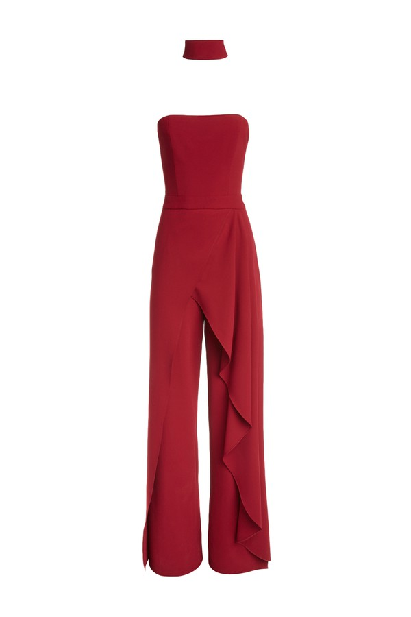 ee91066984c7c Latonya Ruffled Bustier Jumpsuit by Alice + Olivia at ORCHARD MILE