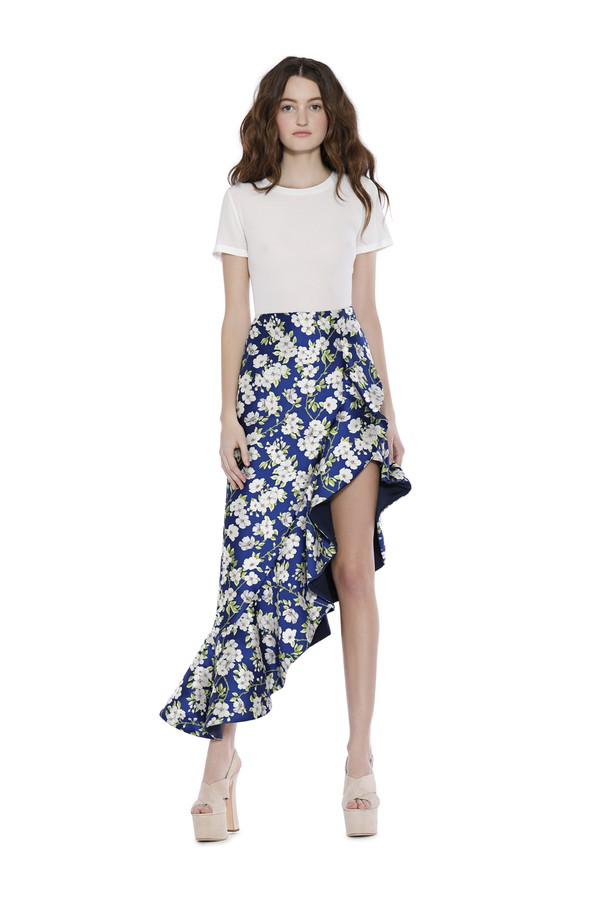 81e27696ac2b Lovetta Asymmetrical Ruffle Skirt by Alice + Olivia at ORCHARD MILE