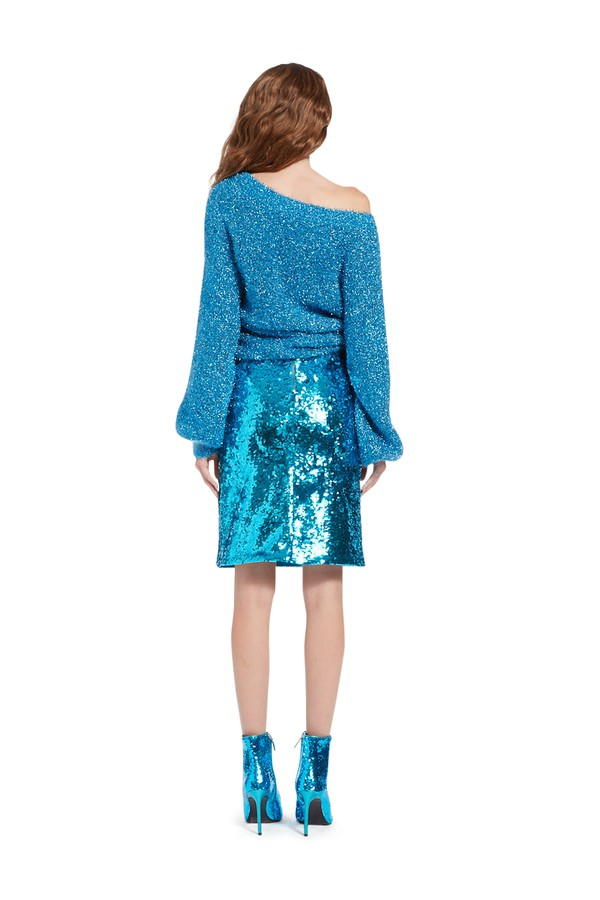 a0e3ce592 Ramos Sequin Fitted Skirt by Alice + Olivia at ORCHARD MILE