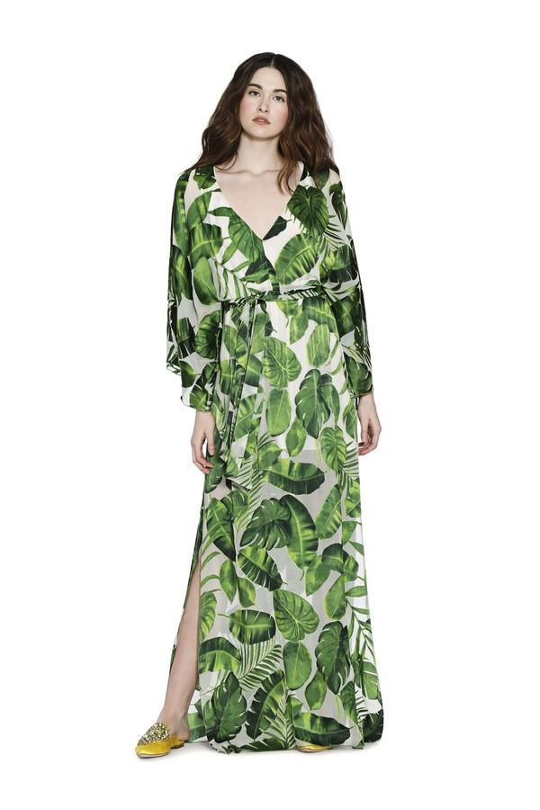 Carlton Vneck Maxi Kaftan Dress by Alice + Olivia at ORCHARD MILE