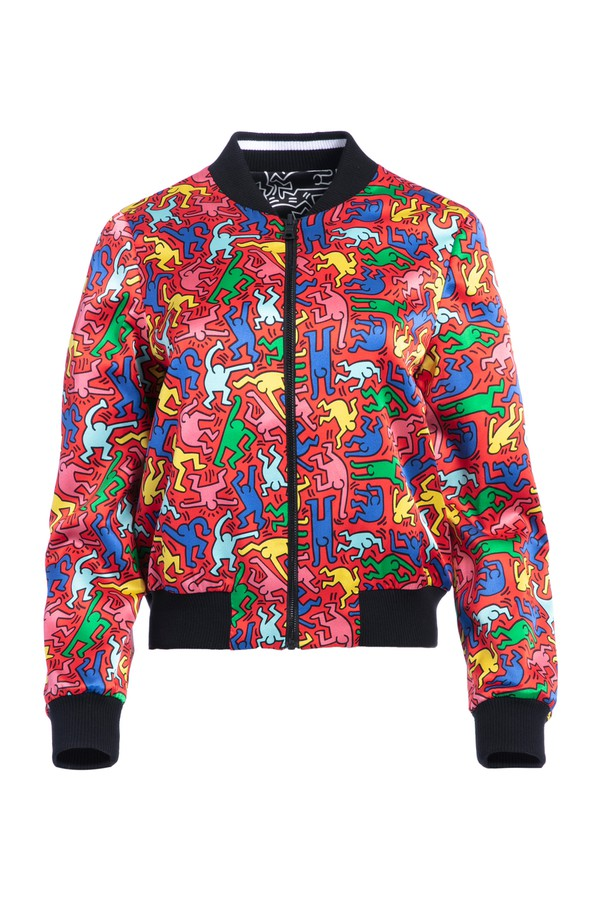 02a9e88ad119 Keith Haring X Ao Lonnie Bomber by Alice + Olivia at ORCHARD MILE