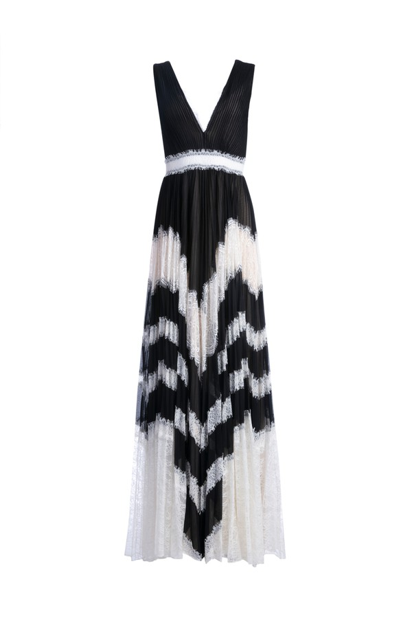 fce5de64fde2 Tess Pleated Lace Maxi Dress by Alice + Olivia at ORCHARD MILE
