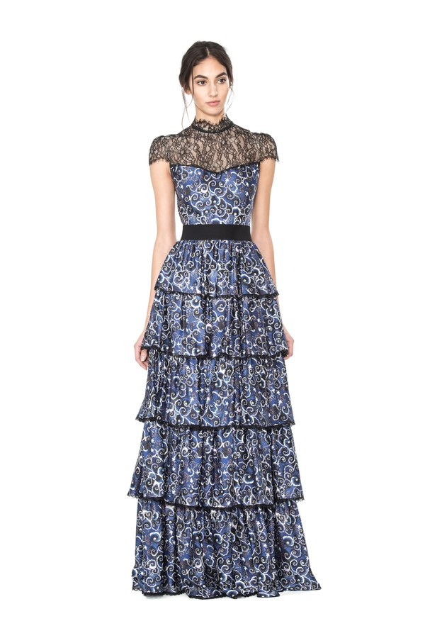 92f78847a063 Mckee Tiered Maxi Dress by Alice + Olivia at ORCHARD MILE