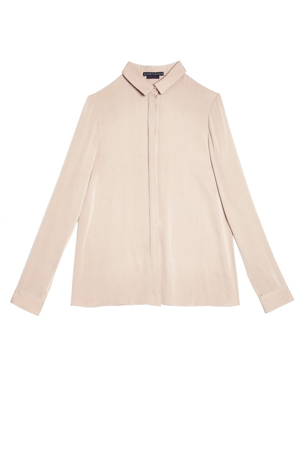 fb3394f4ee9aa Willa Small Collar Placket Top by Alice + Olivia at ORCHARD MILE