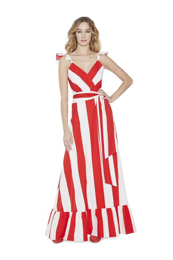 40579de71407 Fernanda Flutter Sleeve Maxi Dress by Alice + Olivia at ORCHARD MILE