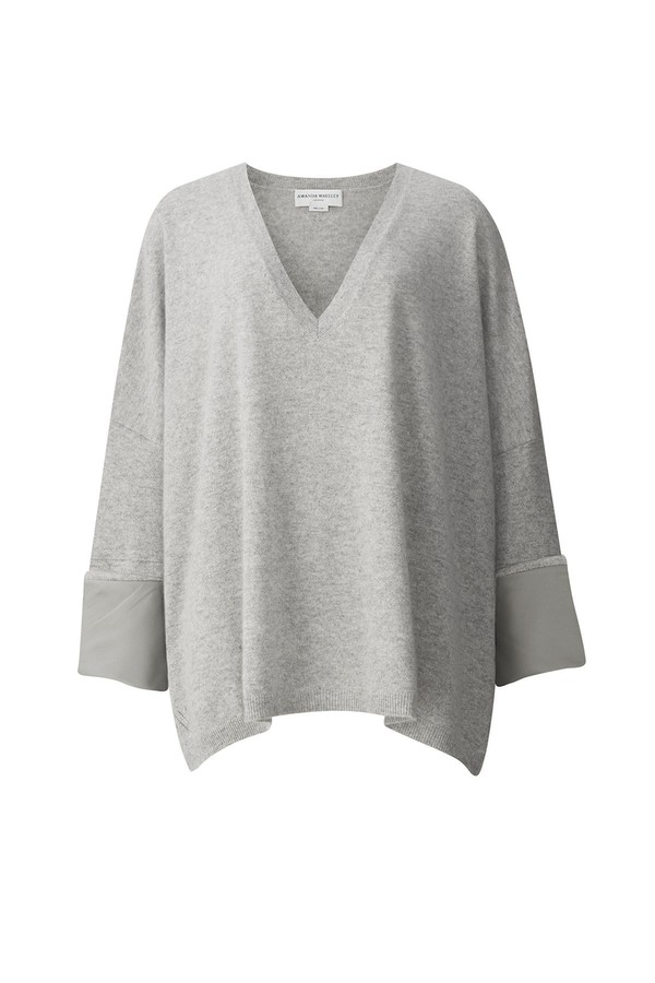 Hutton Grey Cashmere Boyfriend Top by Amanda Wakeley at ORCHARD MILE 615d11ca8