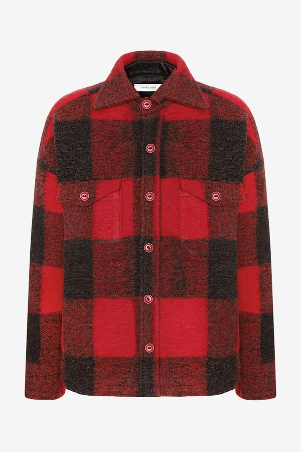 Bobbi Flannel Jacket -Red