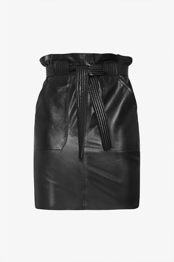 e979868af Laurie Leather Skirt - Black by Anine Bing at ORCHARD MILE