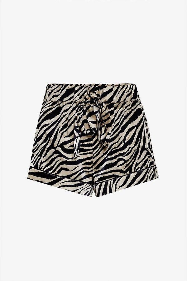 243b0c7ae3d7a Diane Silk Pajama Shorts - Zebra by Anine Bing at ORCHARD MILE