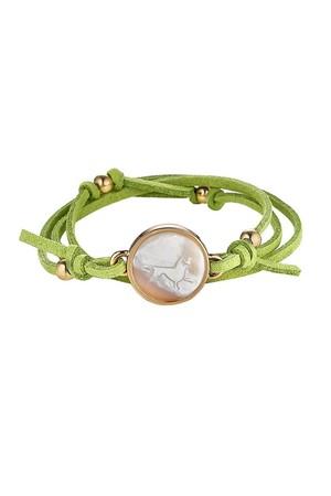 Asha by Ashley McCormick Mykonos Green Suede Bracelet hvVmAx