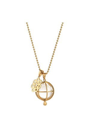 Asha by Ashley McCormick Diamond Scallop Charm Gold / no chain 1kVIxJ
