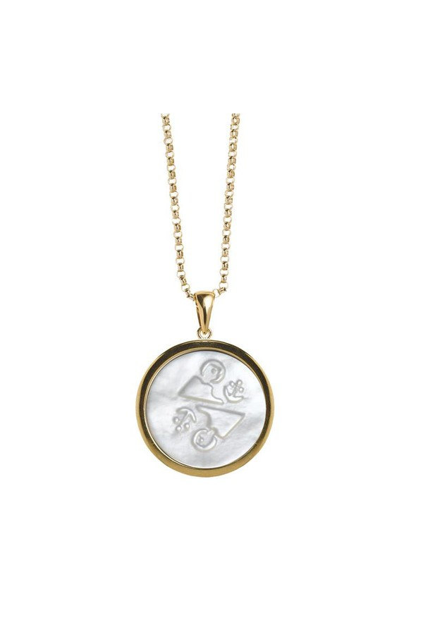 Asha by Ashley McCormick Zodiac Pendant Pave Marthas vineyard fYfVz