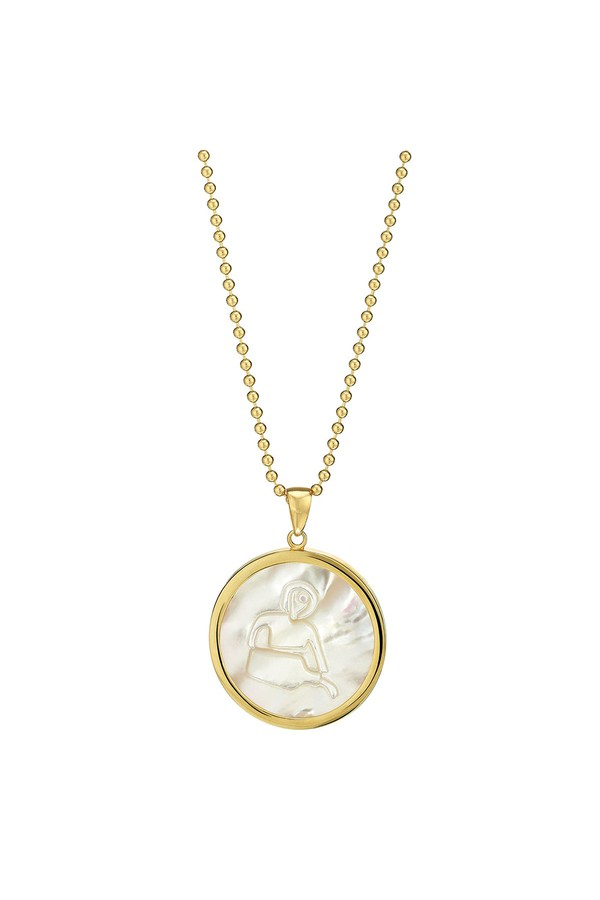 Asha by Ashley McCormick Gold Zodiac Pendant Gold