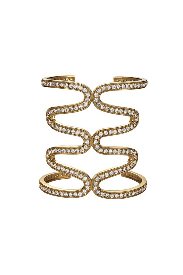Asha by Ashley McCormick Diamond Florentine Cuff SxfuFK0Caw