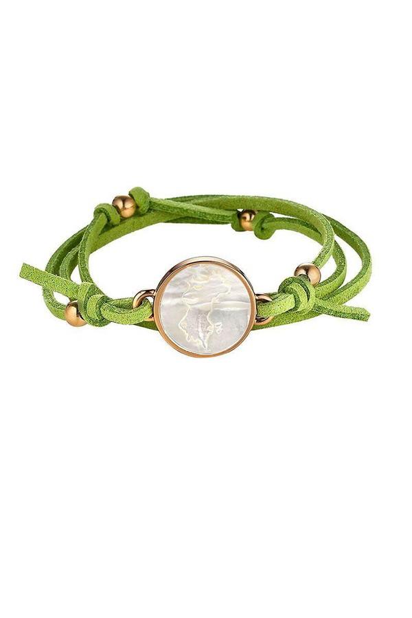 Asha by Ashley McCormick Capri Green Suede Wrap a483DUW