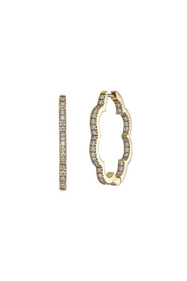 Asha by Ashley McCormick Diamond Scallop Hoops