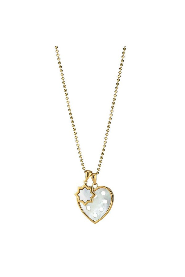 Asha by Ashley McCormick Petite Heart Pendant + Classic Charm White / skull crossbones / 30 beaded chain SOm3NAhVv