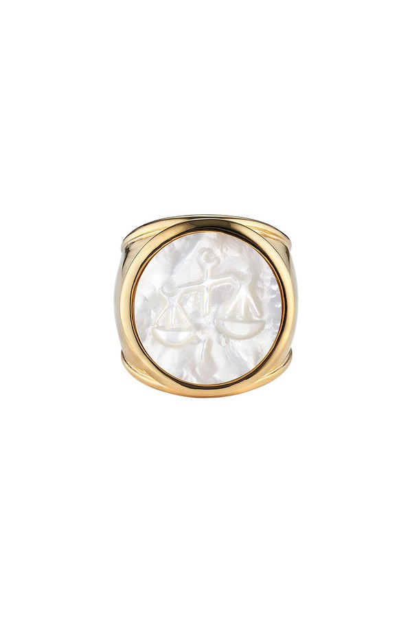 Asha by Ashley McCormick Gold Zodiac Ring Gold kJ4UQko