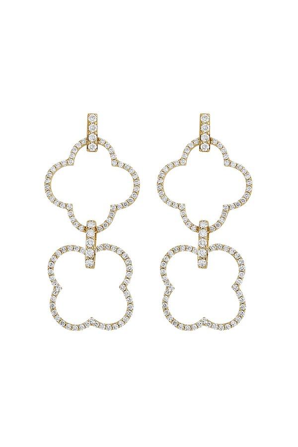 Asha by Ashley McCormick Small Diamond Emilia Earrings - White Gold Silver VExDat