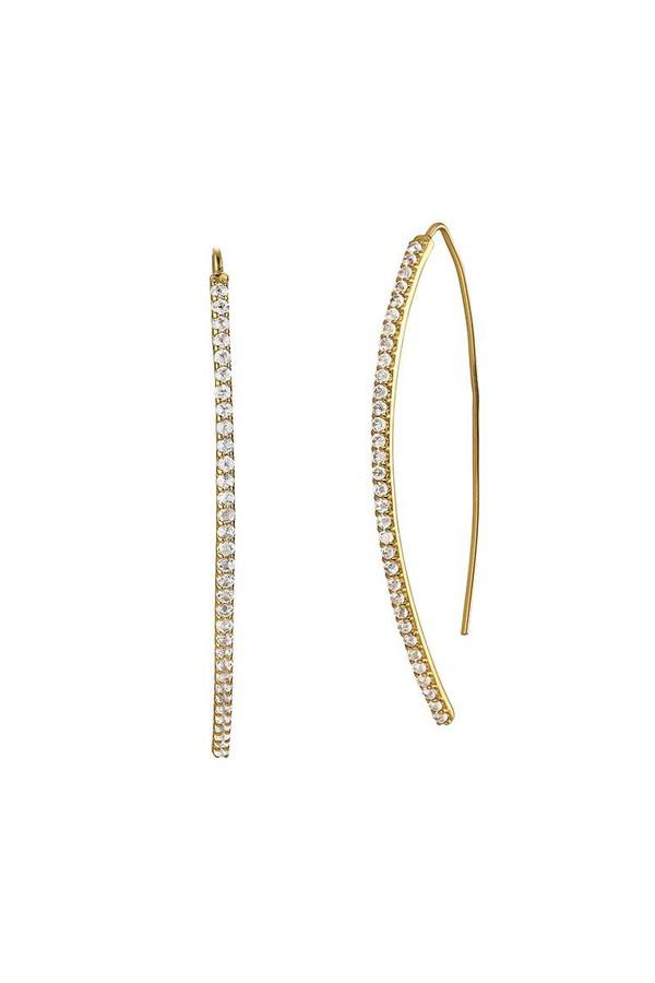 Asha by Ashley McCormick Small Diamond Emilia Earrings - White Gold Silver 2eJN3lY