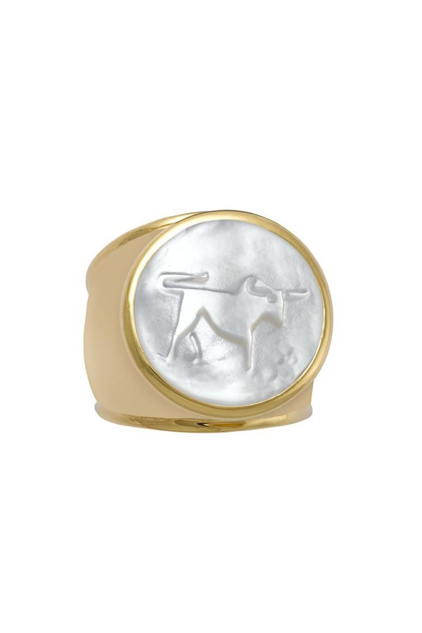 Asha by Ashley McCormick Initial Ring Silver 71K21GSAP