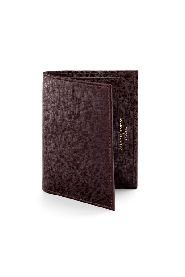huge selection of 39e5c f46cf Double Fold Credit Card Case With Notes Pocket In Chocolate Brown...