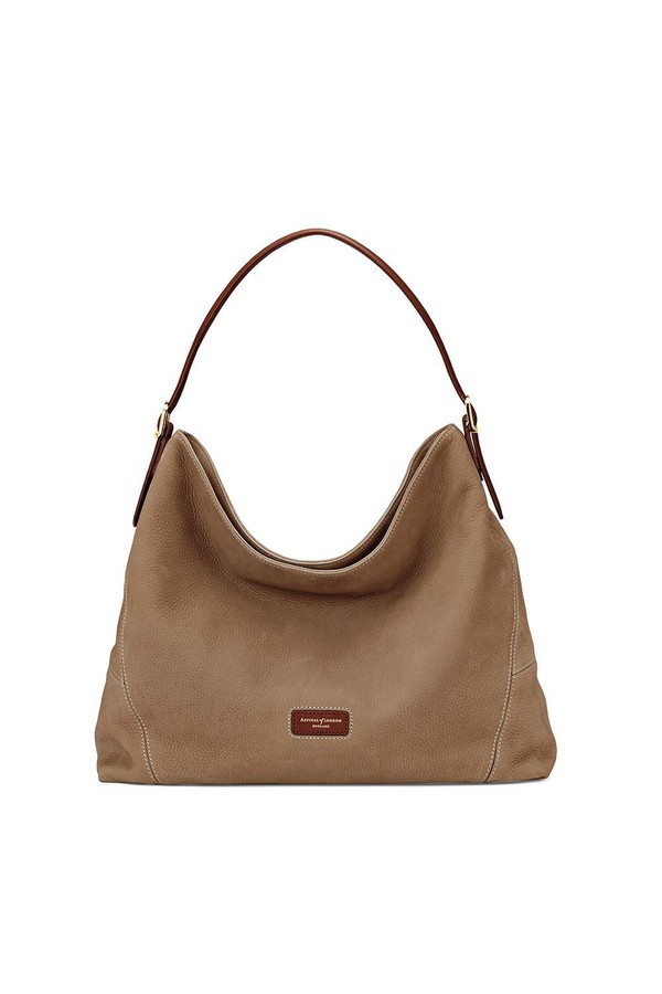 a0a76c2d0b Aspinal Hobo Bag In Fog Nubuck by Aspinal of London at ORCHARD MILE