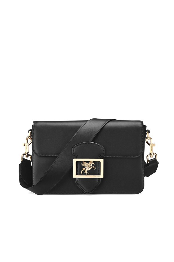 323de5706e1 Pegasus Shoulder Bag In Smooth Black by Aspinal of London at...