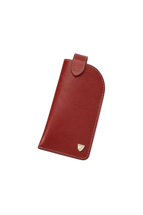 a1d305fce38 Slimline Glasses Case In Smooth Cognac   Espresso Suede by ...