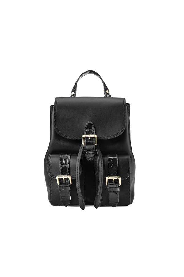 Small Oxford Backpack In Smooth Black   Deep Shine Black Croc by... 46ca1017a6f8d