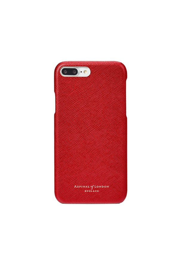 buy popular da410 d89e8 Iphone 7 Plus Leather Cover In Scarlet Saffiano by Aspinal of London