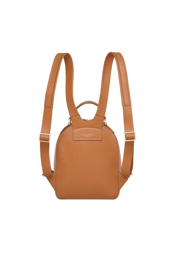 ba64f5af84f9 Small Mount Street Backpack In Smooth Tan by Aspinal of London at...