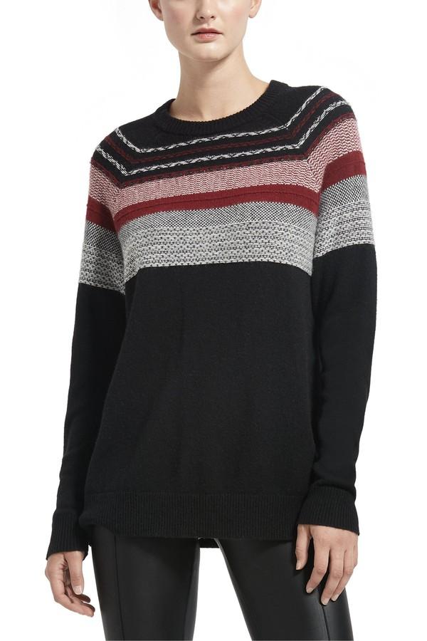 Merino Wool Fair Isle Crew Neck Sweater