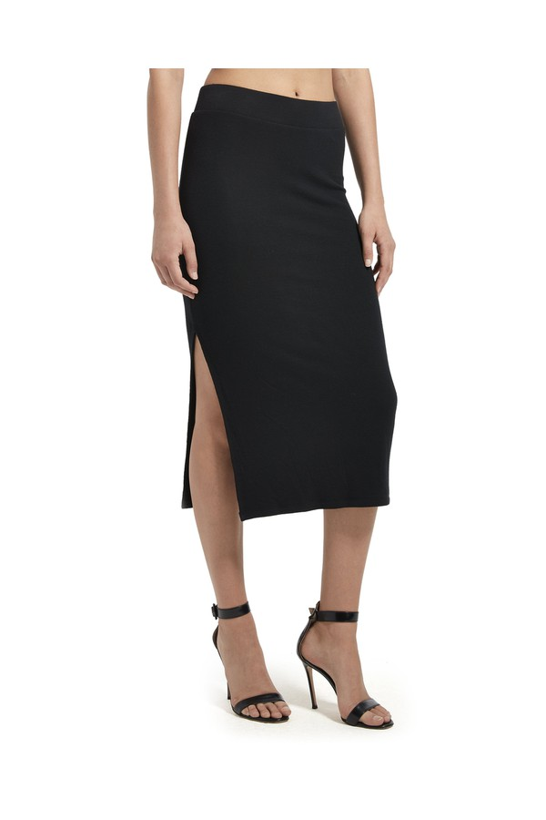 c579c5bc16 Modal Rib Pull-On Skirt by ATM Anthony Thomas Melillo at ORCHARD MILE