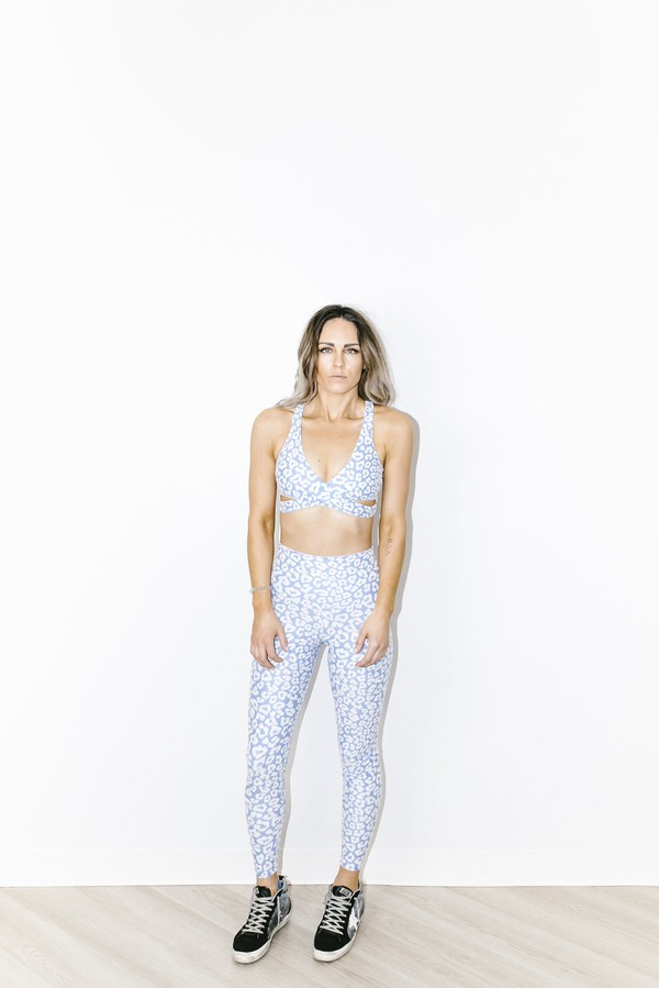 79944490af3b Piper Legging In Blue Leopard by BEACH RIOT at ORCHARD MILE